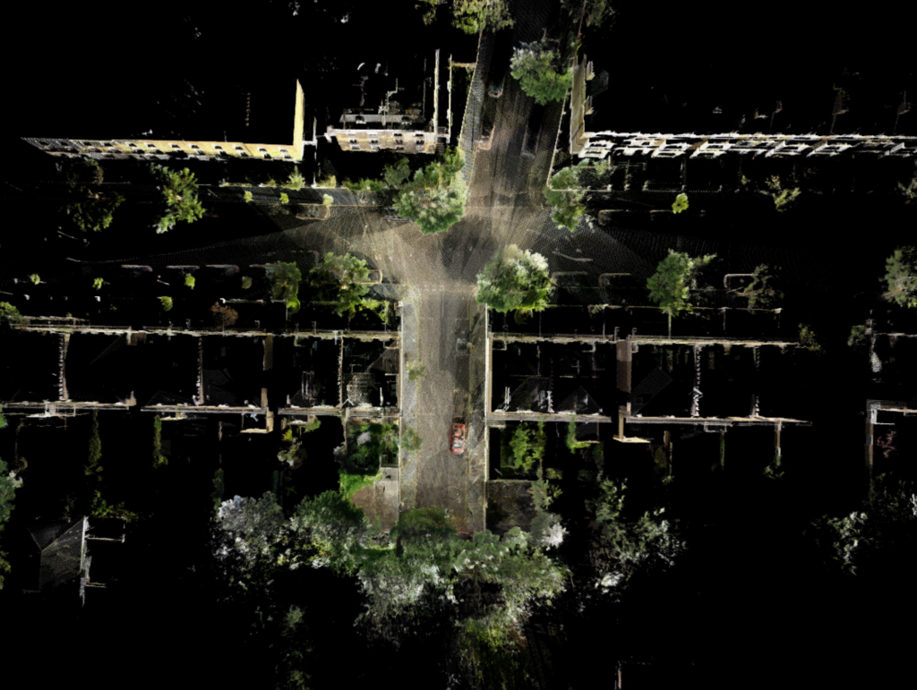 3D Point cloud example for our laser scanning service